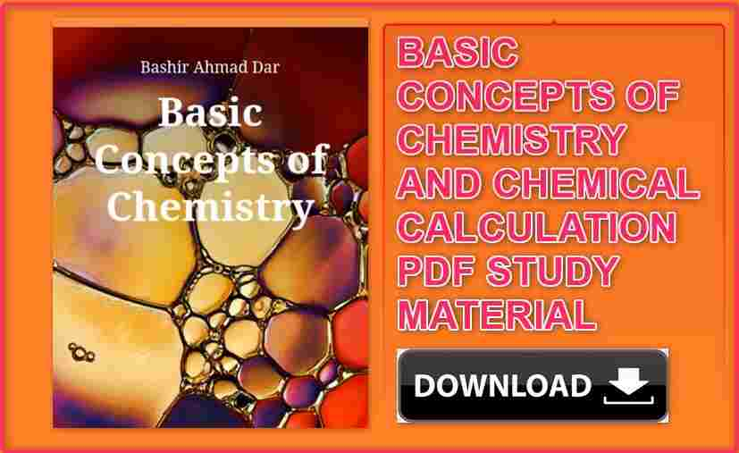 Basic Concepts of Chemistry and Chemical Calculations