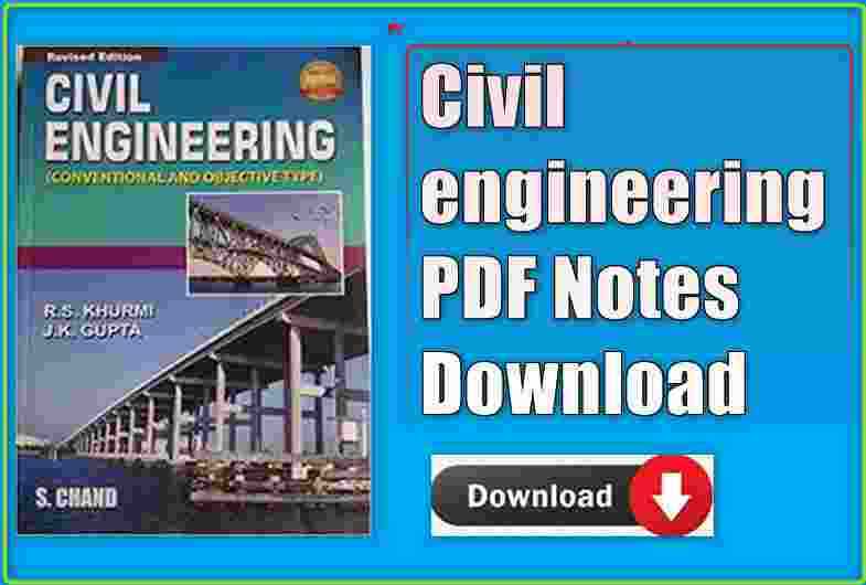 Civil engineering PDF Notes Download