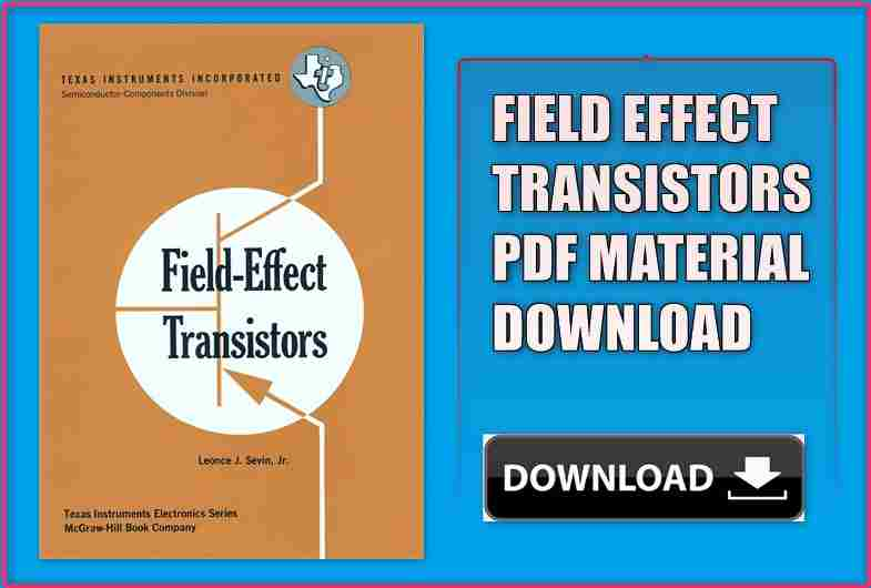 Field Effect Transistors Pdf Material for GATE 2020-21 Download