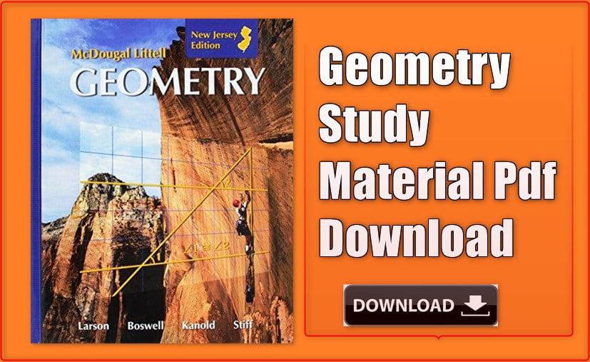 Geometry Pdf Material Download